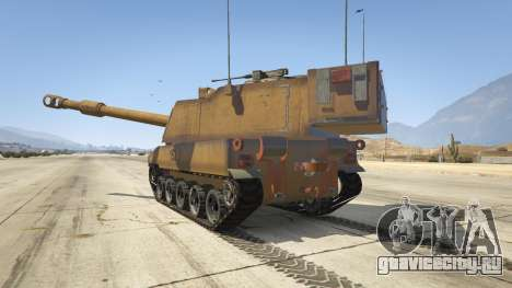 M109 (SAU) Paladin для GTA 5 вид сзади слева