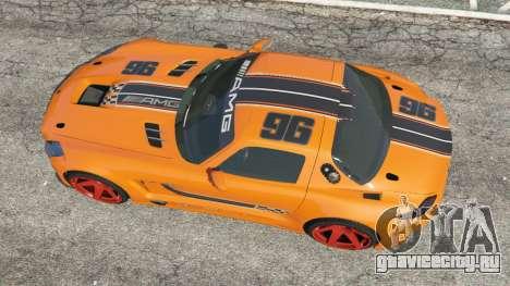 Mercedes-Benz SLS AMG GT3 для GTA 5 вид сзади