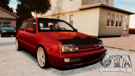 Volkswagen Golf VR6 1998 DTD Tuned для GTA 4 вид сзади слева