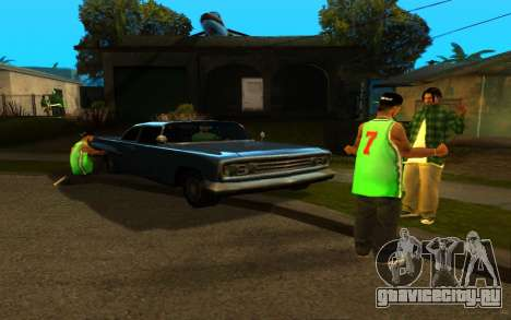 Оживление улицы Гантон для GTA San Andreas второй скриншот