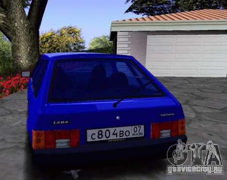 ВАЗ 2109 KBR для GTA San Andreas вид изнутри