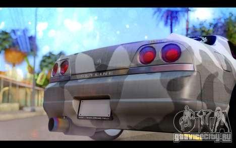 Nissan Skyline R33 Drift для GTA San Andreas вид изнутри