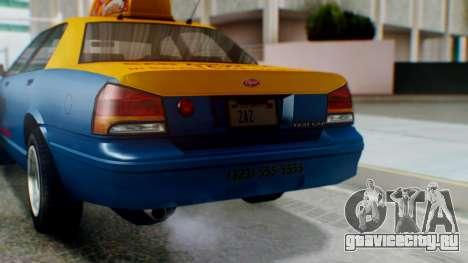 Vapid Taxi with Livery для GTA San Andreas вид сбоку