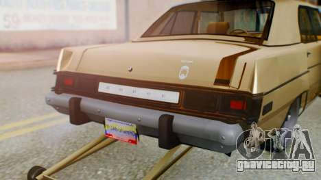 Dodge Dart 1975 Estilo Drag для GTA San Andreas вид изнутри