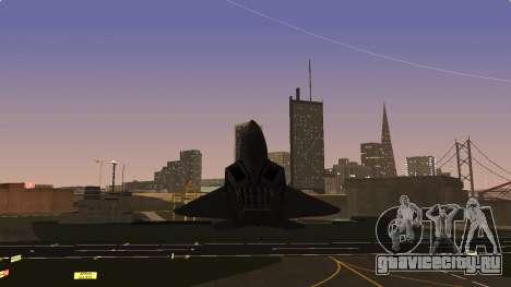 F-22 Raptor PJ для GTA San Andreas вид сзади