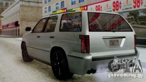 GTA 5 Albany Cavalcade II для GTA San Andreas вид слева