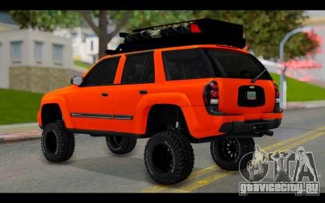 Chevrolet Traiblazer Off-Road для GTA San Andreas вид слева