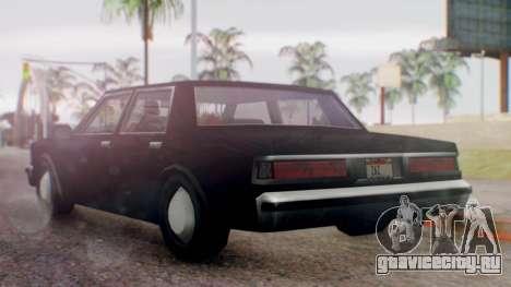 Unmarked Police Cutscene Car Normal для GTA San Andreas вид слева