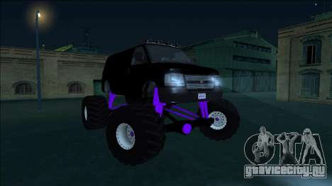 GTA 5 Vapid Speedo Monster Truck для GTA San Andreas вид изнутри
