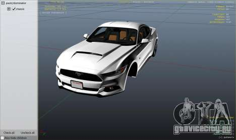 Ford Mustang GT 2015 v1.1 для GTA 5