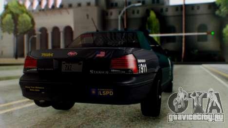 GTA 5 Vapid Stanier II Police IVF для GTA San Andreas вид слева
