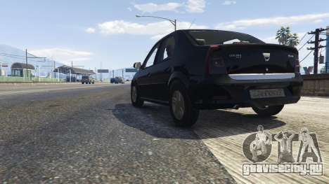 2008 Dacia Logan v2.0 FINAL для GTA 5 вид сзади