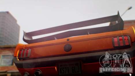 Ford Mustang 1966 Chrome Edition v2 Monster для GTA San Andreas вид сзади