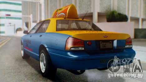 Vapid Taxi with Livery для GTA San Andreas вид слева