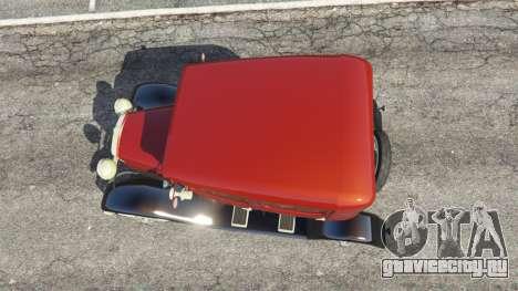 Ford Model A [mafia style] для GTA 5 вид сзади