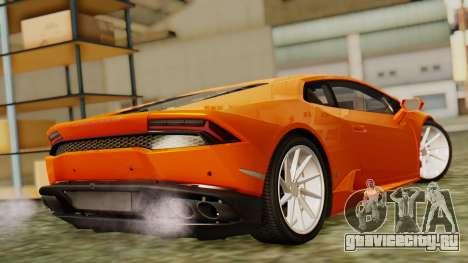 Lamborghini Huracan LP610-4 2015 для GTA San Andreas вид слева
