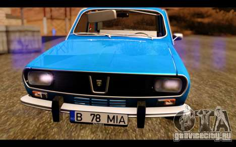 Dacia 1300 1969 для GTA San Andreas вид сзади