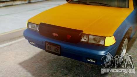 Vapid Taxi with Livery для GTA San Andreas вид изнутри