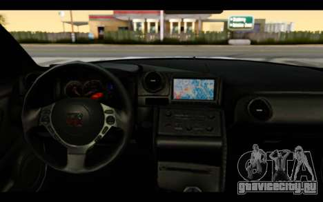 Nissan GT-R Policija для GTA San Andreas вид изнутри