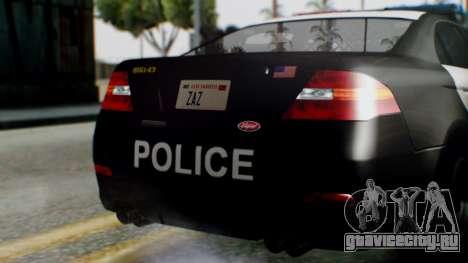 GTA 5 Police LS для GTA San Andreas вид сбоку