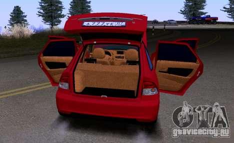 ВАЗ 2172 КВR для GTA San Andreas вид сбоку