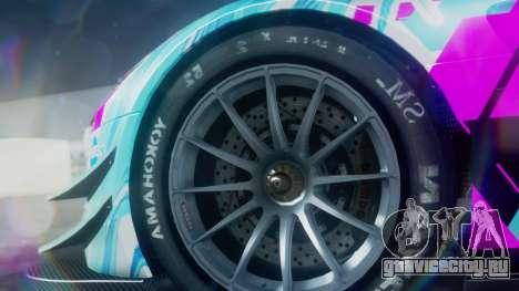 Mercedes-Benz SLS AMG GT3 2015 Hatsune Miku для GTA San Andreas вид справа