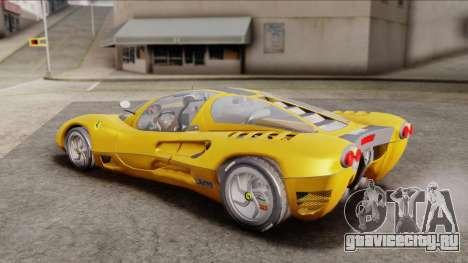 Ferrari P7 Normal для GTA San Andreas вид сзади слева