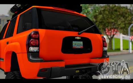 Chevrolet Traiblazer Off-Road для GTA San Andreas вид изнутри