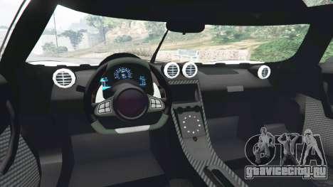 Koenigsegg One1 2014 v1.1 для GTA 5 вид сзади справа