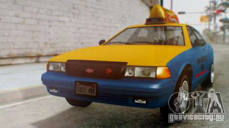 Vapid Taxi with Livery для GTA San Andreas