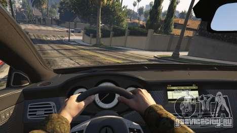 Mercedes-Benz CLS 63 AMG v.1.2 для GTA 5 вид сзади справа
