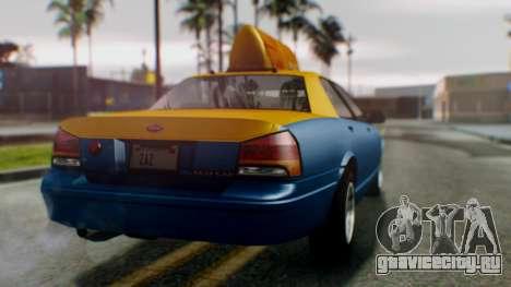 Vapid Taxi для GTA San Andreas вид слева