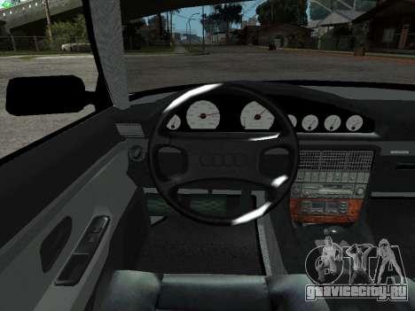 Audi 100 C4 1992 для GTA San Andreas вид изнутри