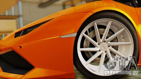 Lamborghini Huracan LP610-4 2015 для GTA San Andreas вид сзади слева