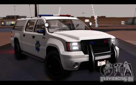 GTA 5 Declasse Sheriff Granger IVF для GTA San Andreas вид снизу