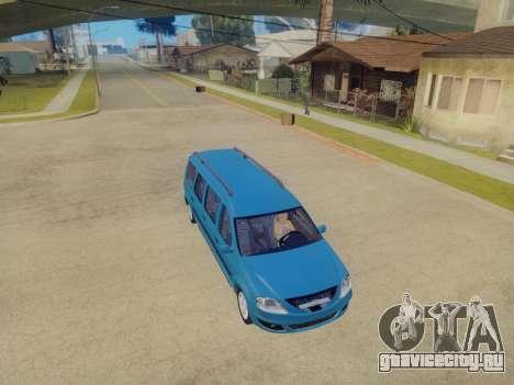 Lada Largus 7-door для GTA San Andreas вид сзади