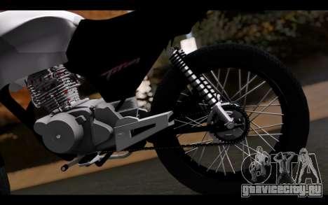 Honda CG Titan 150 Stunt Imitacion для GTA San Andreas вид сзади