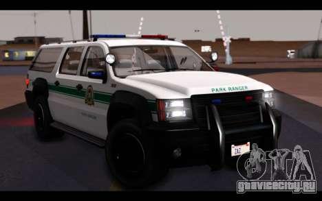 GTA 5 Declasse Sheriff Granger IVF для GTA San Andreas вид сверху