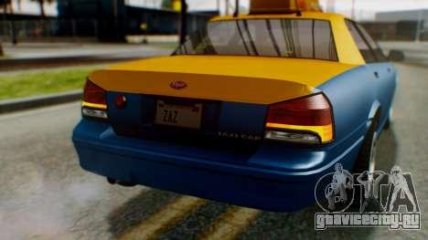 Vapid Taxi для GTA San Andreas вид сверху