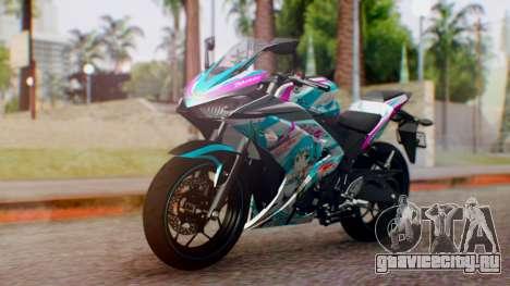 Yamaha R25 2015 EV Mirai Miku Racing 2013 для GTA San Andreas