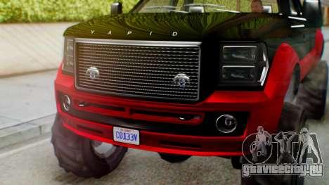 GTA 5 Vapid Sandking SWB IVF для GTA San Andreas вид сзади
