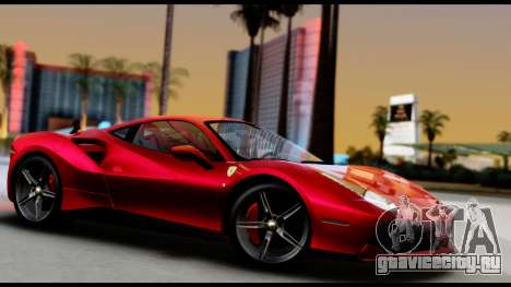 Ferrari 488 GTB 2016 для GTA San Andreas вид справа