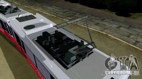 GTA 5 Metrotrain для GTA San Andreas вид сзади слева