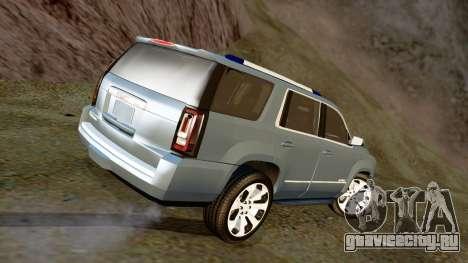GMC Yukon Denali 2015 для GTA San Andreas вид слева