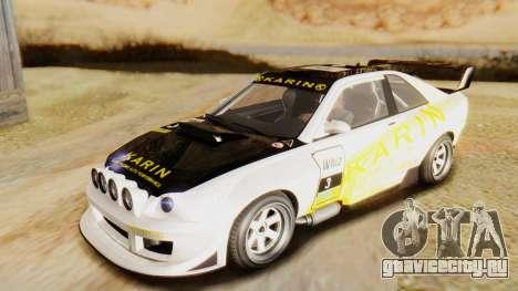 GTA 5 Karin Sultan RS IVF для GTA San Andreas вид изнутри