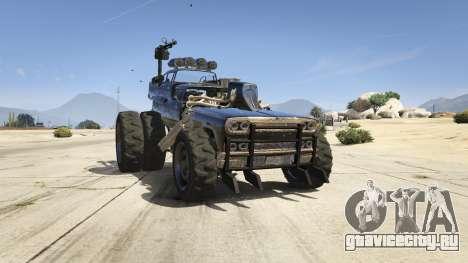 Mad Max The Gigahorse для GTA 5 вид сзади