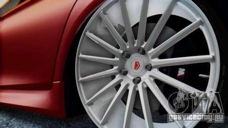 BMW M5 2012 Stance Edition для GTA San Andreas вид изнутри