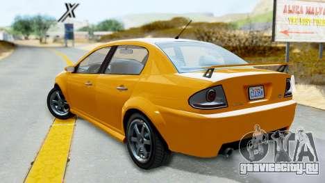 GTA 5 Declasse Premier Coupe для GTA San Andreas вид слева