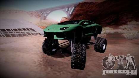 Lamborghini Aventador Monster Truck для GTA San Andreas вид сверху