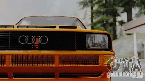 Audi Quattro Coupe 1983 для GTA San Andreas вид сзади